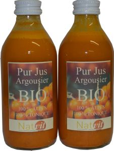 Lot de 2 jus d'argousier BIO riche en vitamines ACE des Alpes de Haute Provence